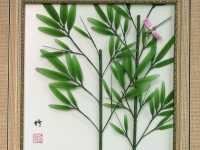 丝网花竹子的手工制作方法 手工丝袜花