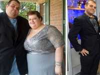 18对夫妻减肥前后励志对比图 减肥前后图片